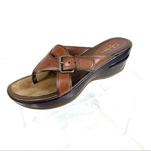 Cole Haan Nike Air Platform Sandals Brown Size 8 B